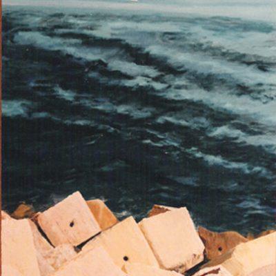 AZUL - Acrílico sobre tabla, 81x65 cm