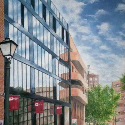 IMF Business School - Acrílico sobre lienzo, 60x120 cm