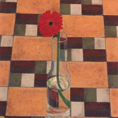 PRIMAVERA EN INVIERNO - Acrílico sobre tabla, 55x46 cm