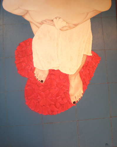 DESPUÉS DEL BAÑO - Acrílico sobre lienzo, 80x65 cm