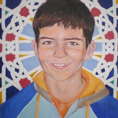 LOS TRES HERMANOS 1 - Acrílico sobre lienzo, 46x38 cm